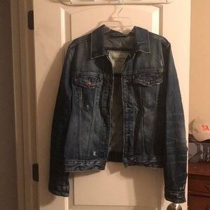 Abercrombie and Fitch distressed denim Jacket L